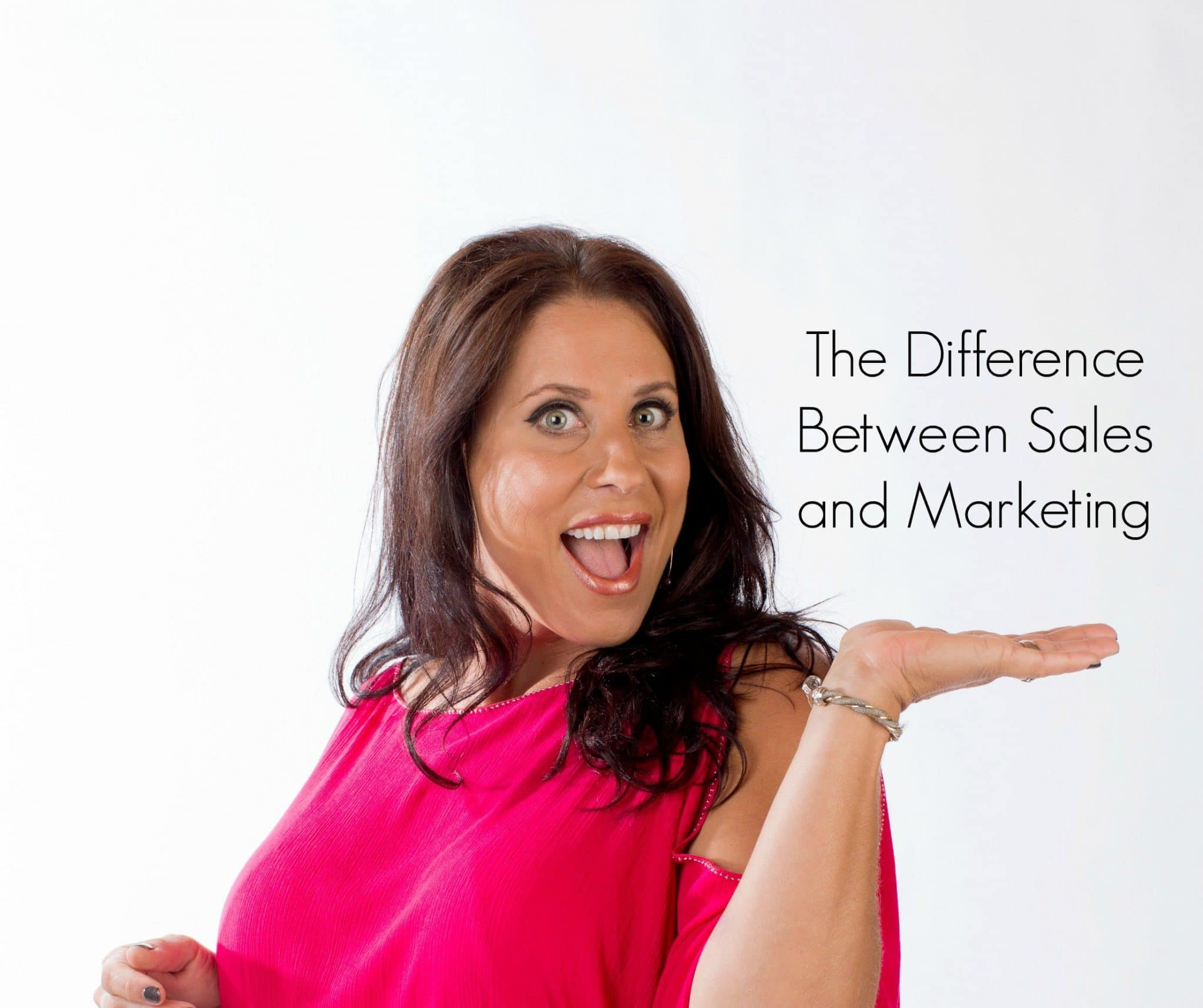 the difference between sales and marketing Many people have written at length to answer the question what is the difference between marketing, sales and branding but it's a trick question.